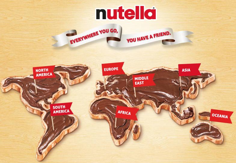 Nutella nel mondo